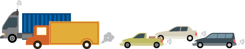 illustration of cars and trucks