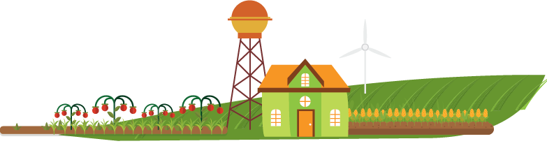illustration of urban farmland