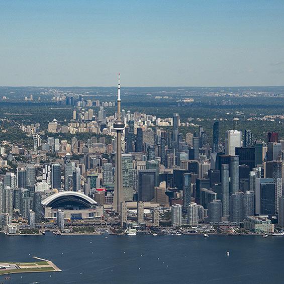 aerial view of Toronto skyline