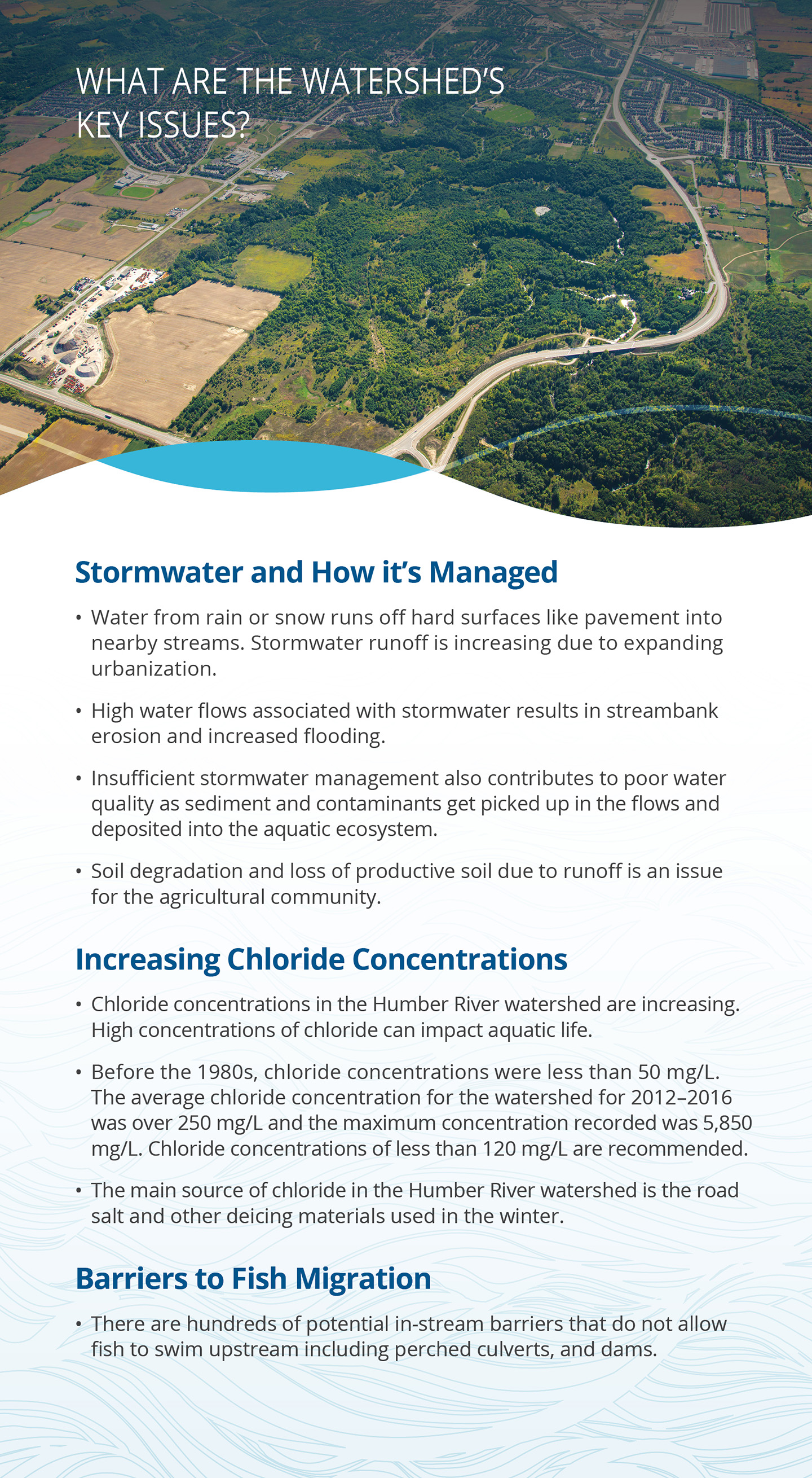 key issues panel of Humber River watershed report card