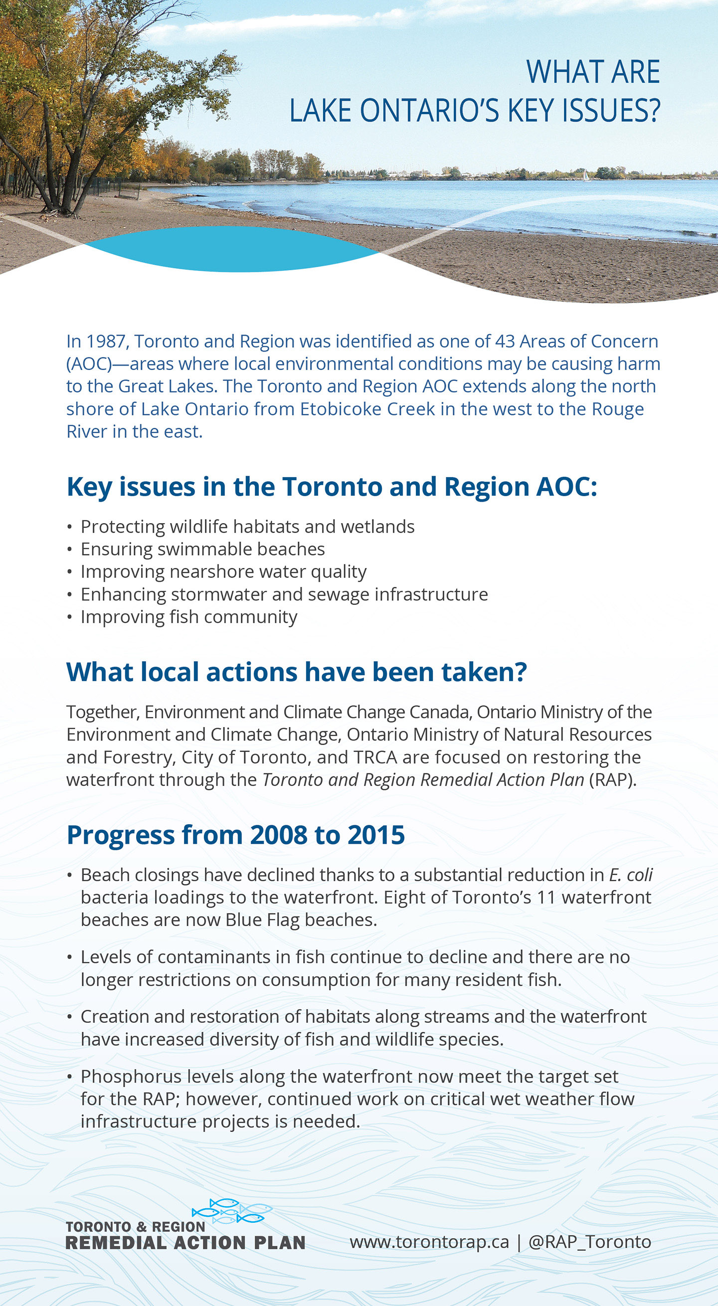 key issues panel of Lake Ontario Waterfront report card