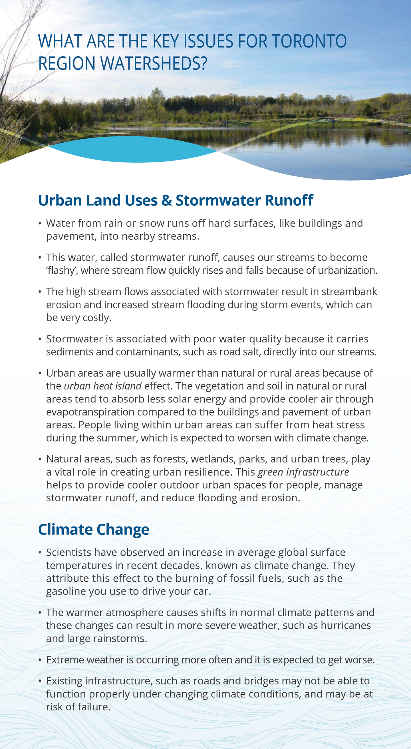third panel of TRCA watersheds report card