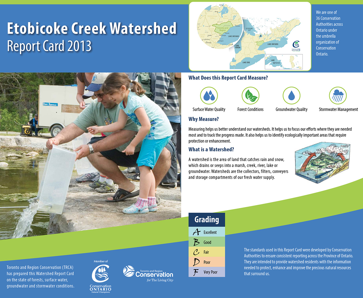 cover of 2013 Etobicoke Creek watershed report card