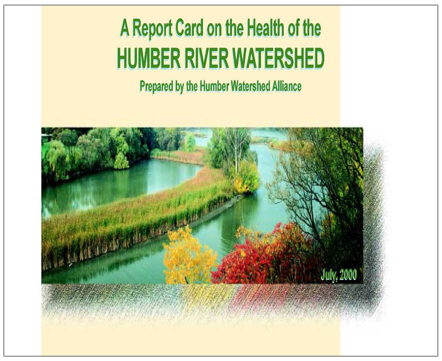 cover of 2000 Humber River watershed report card