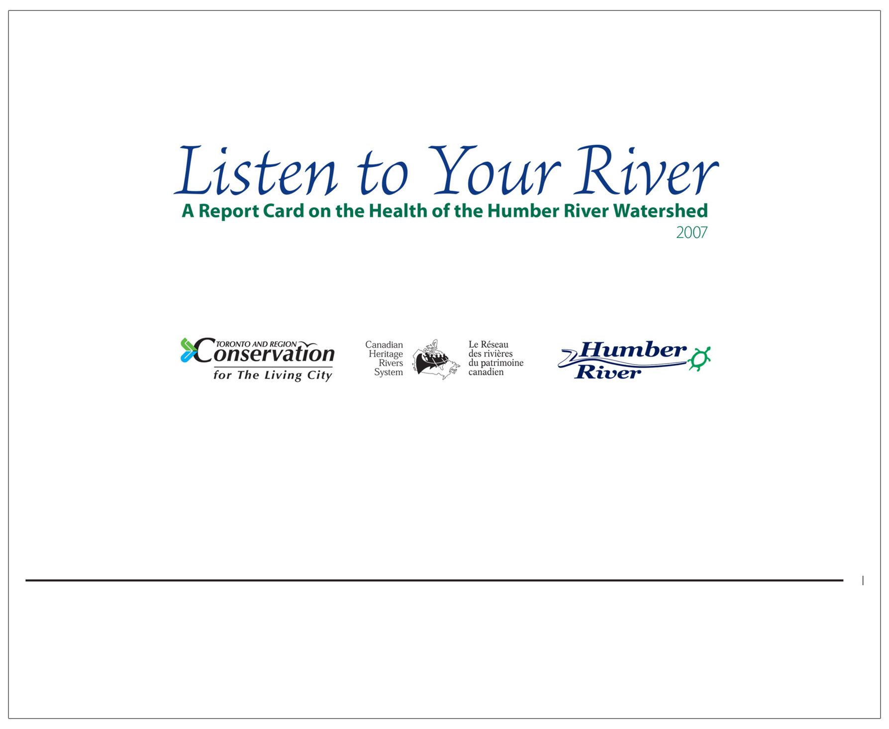 cover of 2007 Humber River watershed report card