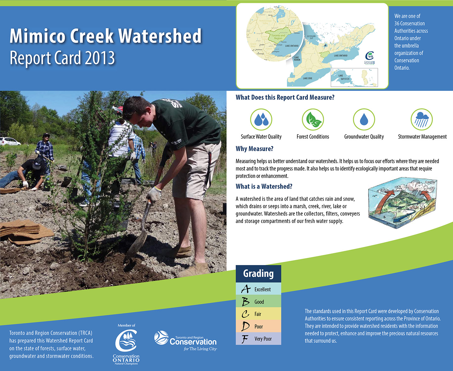 cover of 2013 Mimico Creek watershed report card