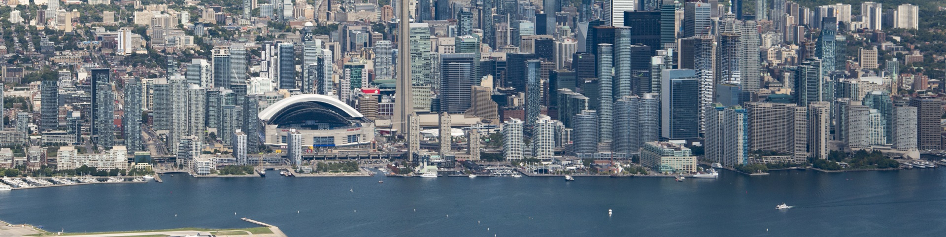 aerial view of Toronto waterfront