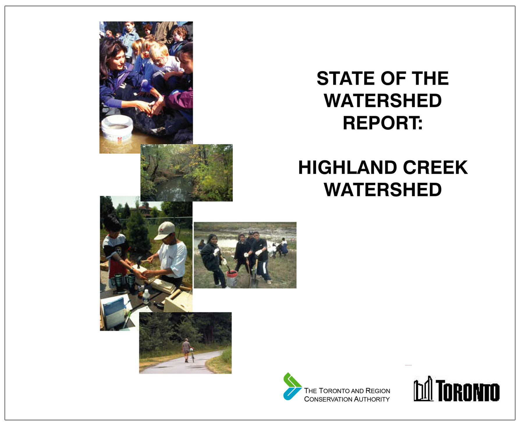 cover of 1999 Highland Creek watershed report card