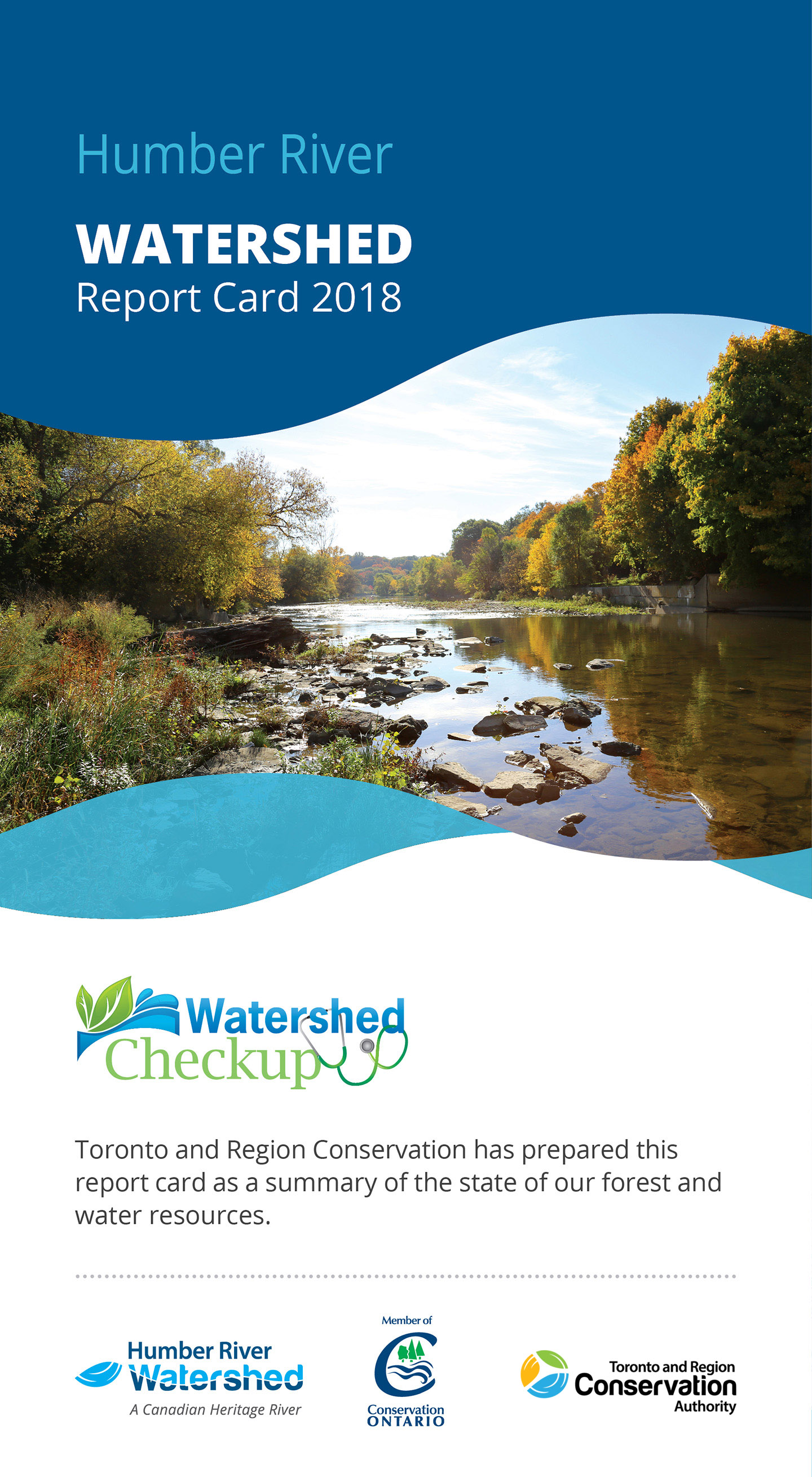 front panel of Humber River watershed report card