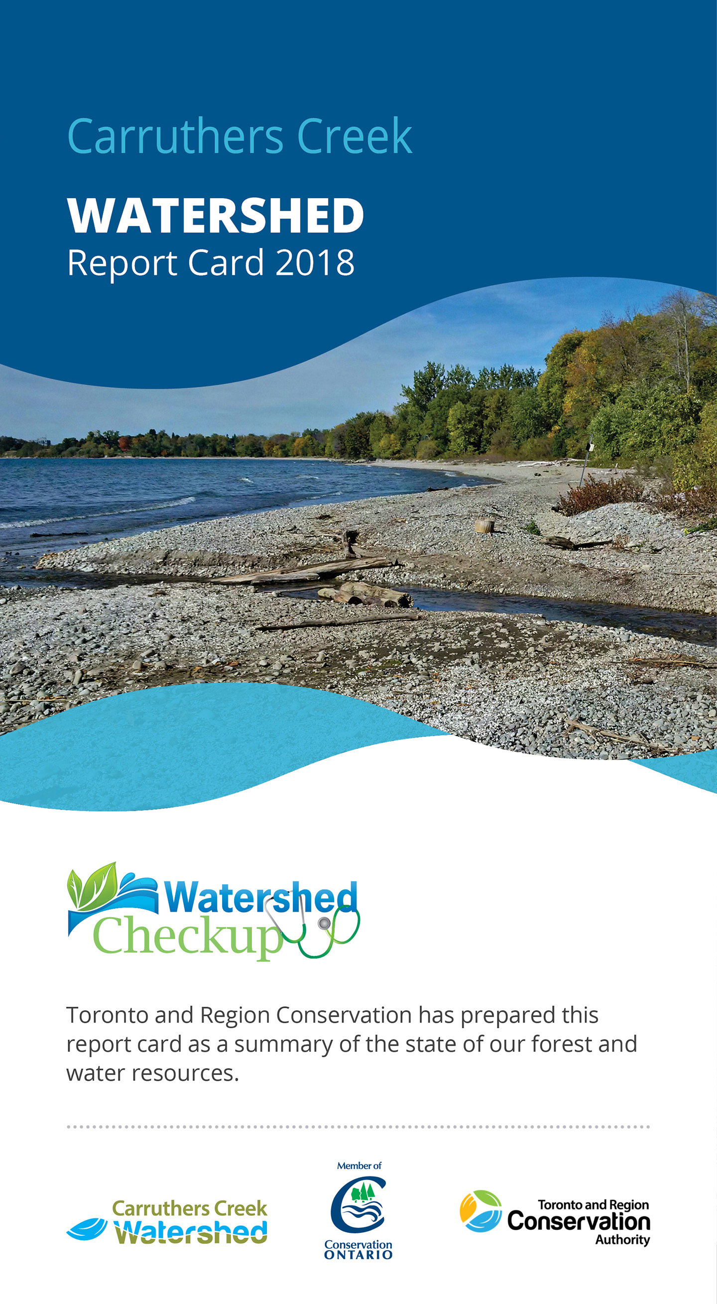 front panel of Carruthers Creek watershed report card