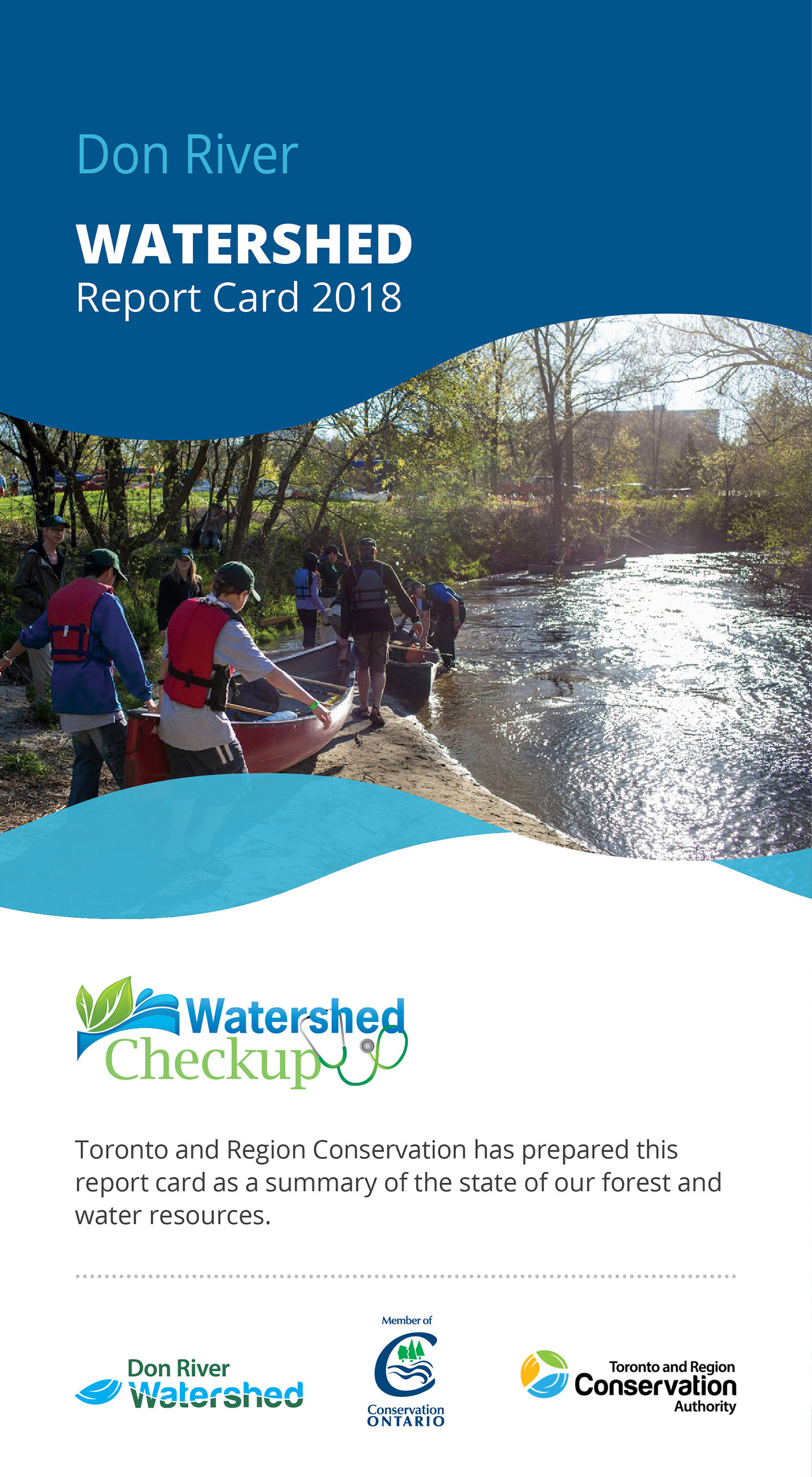 front panel of Don River Watershed report card