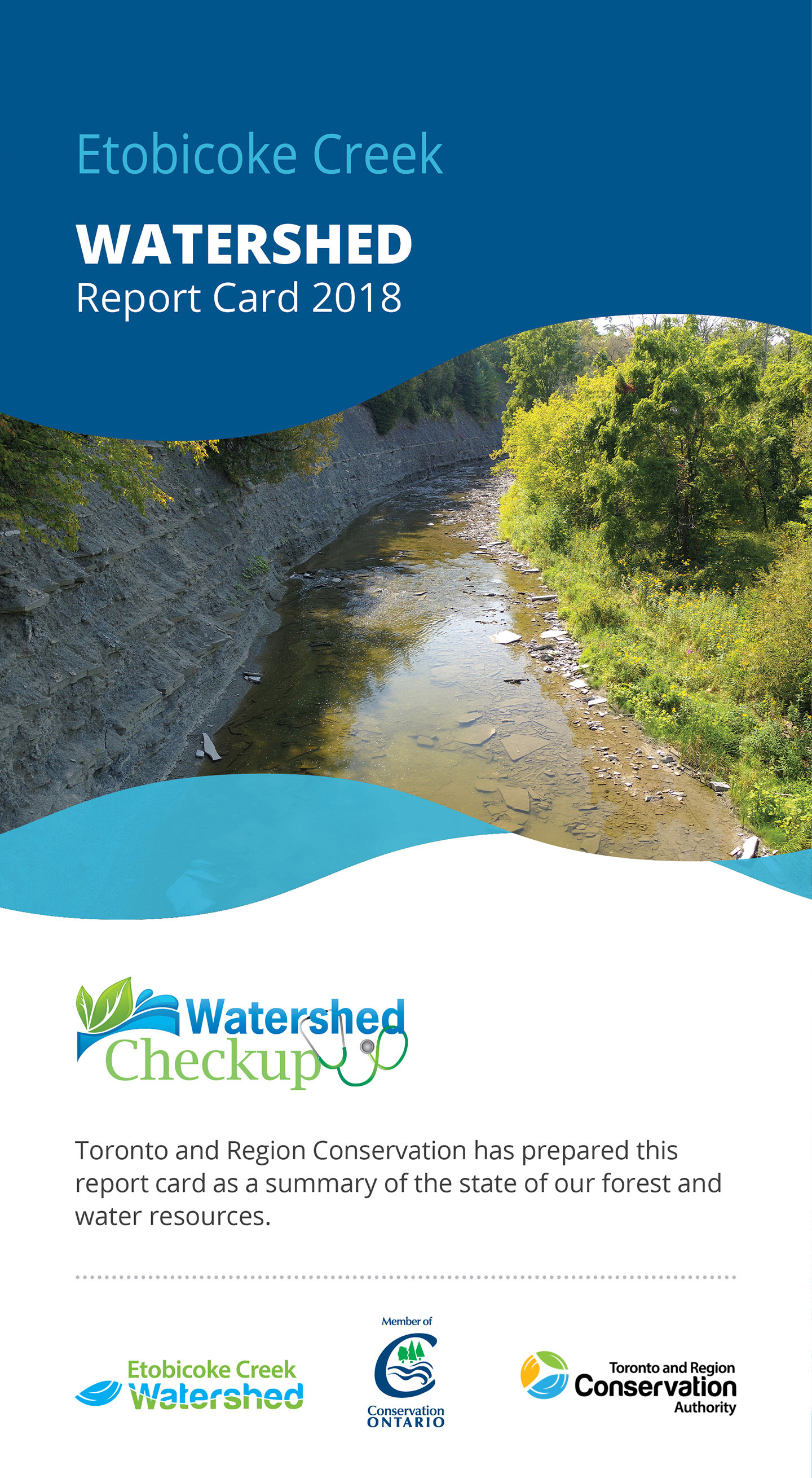 front panel of Etobicoke Creek watershed report card