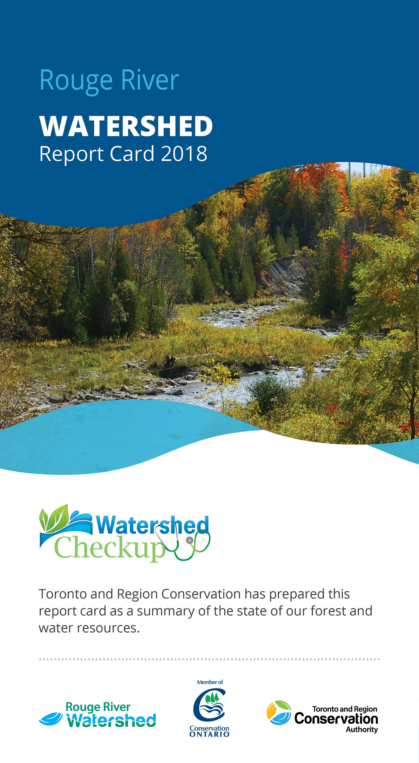 front panel of Rouge River watershed report card