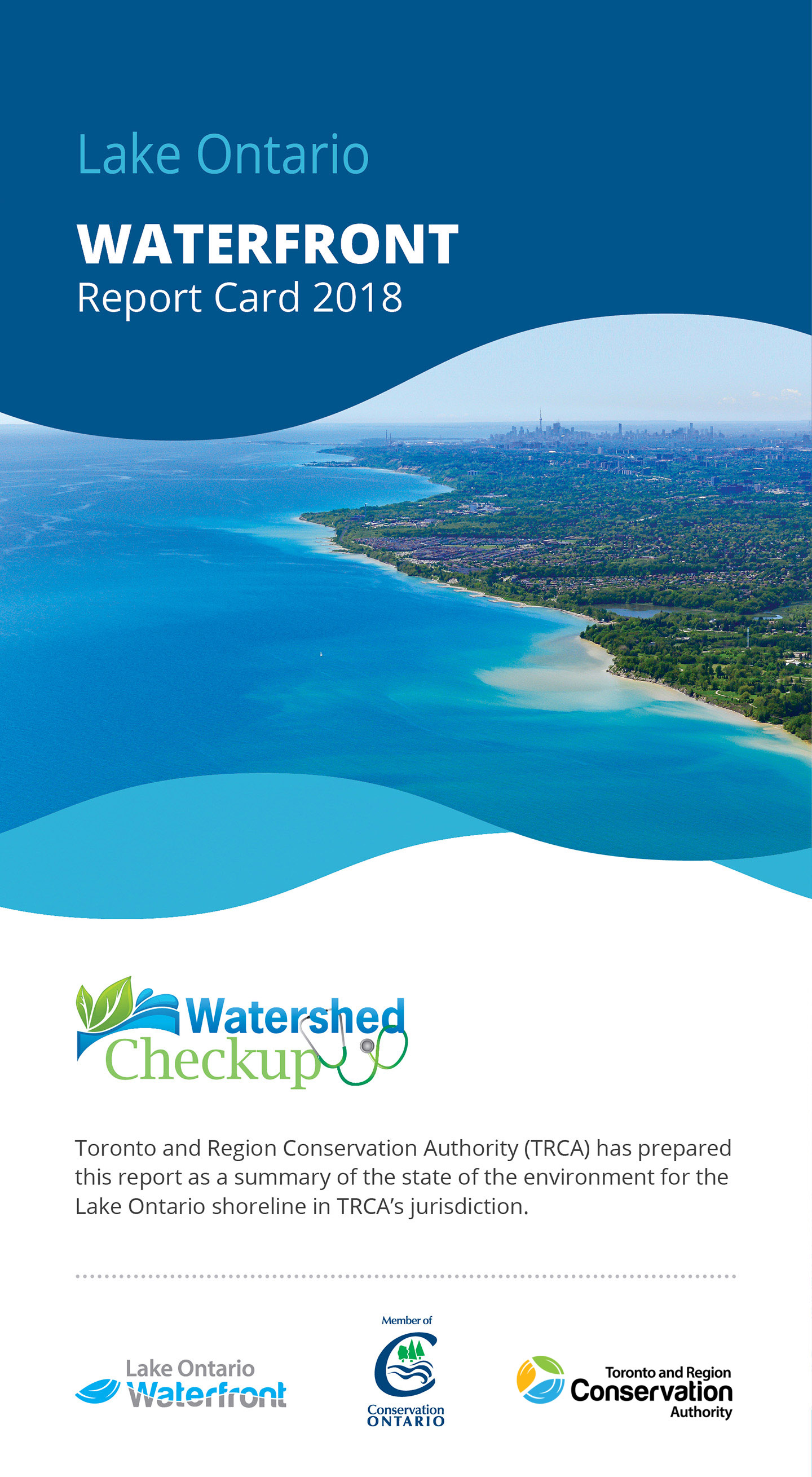 front panel of Lake Ontario Waterfront report card